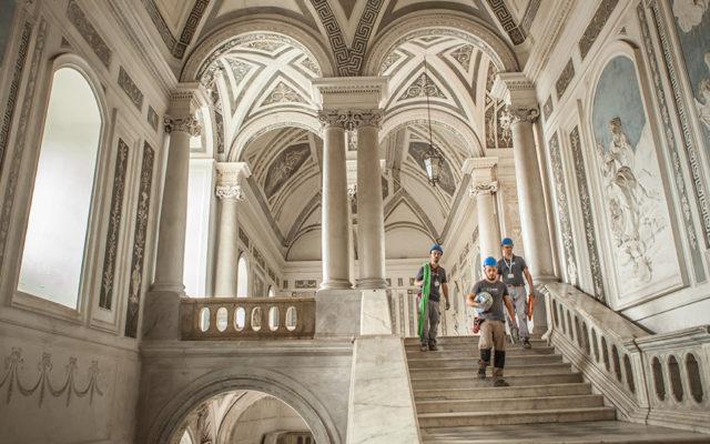 adeguamento normativo impianti elettrici a Catania   Monastero dei Benedettini ad opera di MVM holding